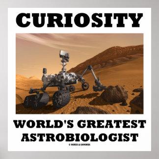 Der bestste Astrobiologist der Neugier-Welt Poster