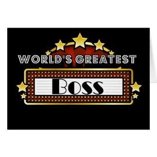 Der bestste Chef der Welt Grußkarte