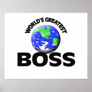 Der bestste Chef der Welt Plakatdruck