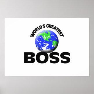 Der bestste Chef der Welt Posterdruck