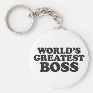 Der bestste Chef der Welt Standard Runder Schlüsselanhänger