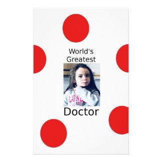 Der bestste Doktor Customizable Foto Design der Briefpapier