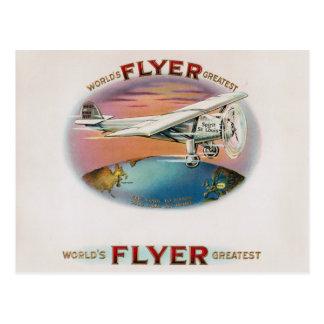 Der bestste Flyer-Vintager Geist der Welt von St. Postkarte