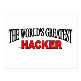 Der bestste Hacker der Welt Postkarte