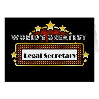 Der bestste legale Sekretär der Welt Karte