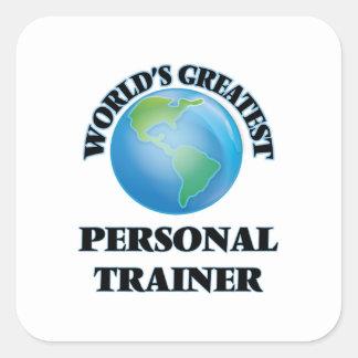 Der bestste persönliche Trainer der Welt Quadratischer Aufkleber