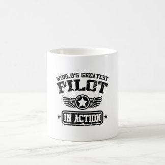 Der bestste Pilot der Welt in der Aktion Kaffeetasse
