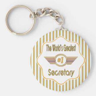 Der bestste Sekretär der Welt der Zahl-eine Schlüsselanhänger