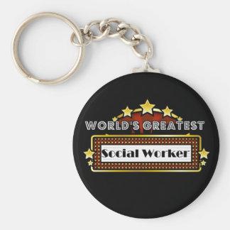 Der bestste Sozialarbeiter der Welt Standard Runder Schlüsselanhänger