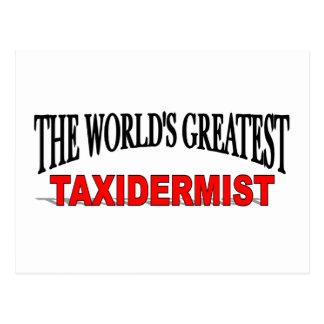 Der bestste Taxidermist der Welt Postkarte