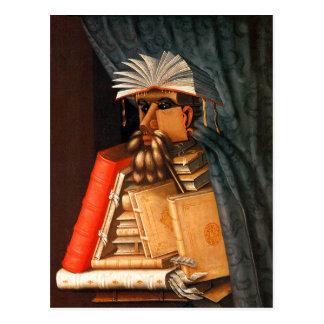 Der Bibliothekar Postkarte