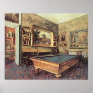 Der Billard-Raum bei Menil Hubert durch Edgar Poster
