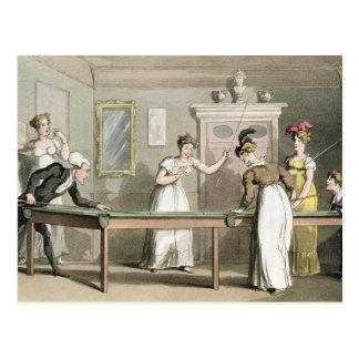 Der Billardtisch, 'vom Ausflug von Dr. Syntax Postkarte