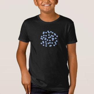 Der Bio T - Shirt der blaue Polka-Punkt-Kinder