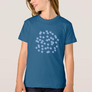 Der Bio T - Shirt der blauen Polka-Punkt-Mädchen
