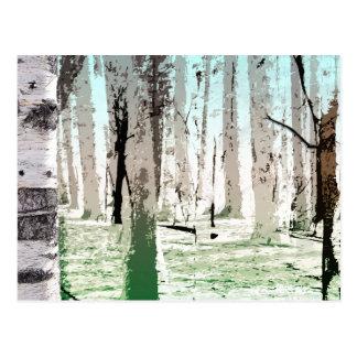 Der Birken-Wald Postkarte