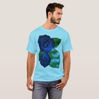 Der blaue cyan-blaue Rosenakzent PERSONIFIZIEREN T-Shirt