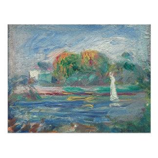 Der blaue Fluss, c.1890-1900 (Öl auf Leinwand) Postkarten