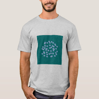 Der blaue grundlegende T - Shirt der
