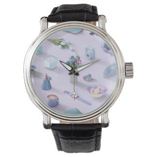 Der blaue Traum des Mädchens Uhr