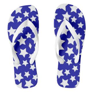 der blaue Unisex Unabhängigkeitstagstern drehen Flip Flops