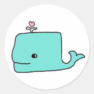 Der Blauwal Runde Sticker