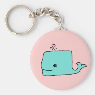 Der Blauwal Standard Runder Schlüsselanhänger