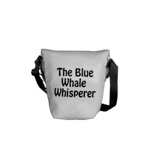 der Blauwal Whisperer Kuriertasche