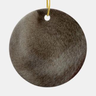 Der Blick des luxuriösen Siegel-Punkt-siamesische Keramik Ornament