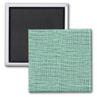 Der Blick Seafoam der blauen Quadratischer Magnet