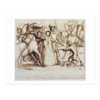 Der blinde Mann, 1853 (Stift, Tinte, Wäsche und Postkarte