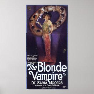 Der blonde Vampir Posterdruck