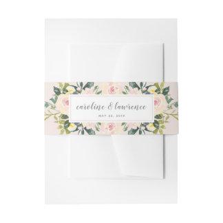 Der Blumen Frühling erröten   Wedding Bauch-Band Einladungsbanderole