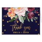Der Blumen Herbst danken Ihnen Karte