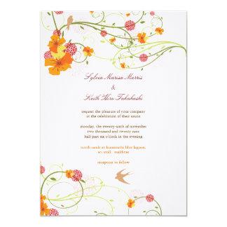 Der Blumen Hibiskus u. die 12,7 X 17,8 Cm Einladungskarte