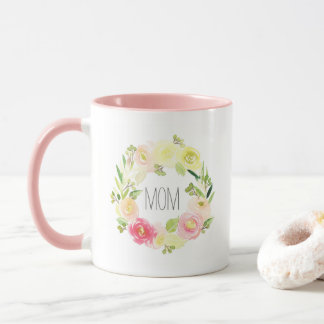 Der Blumen| Tag der Mutter des rosa u. gelben Tasse