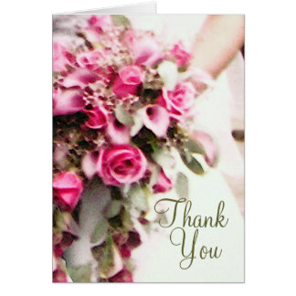 Der Blumenstrauß der Braut danken Ihnen zu Karte