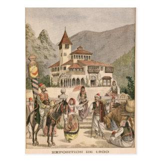 Der bosnische Pavillon an der universellen Postkarte