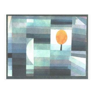Der Bote des Herbstes durch Paul Klee Postkarte