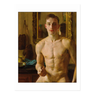 Der Boxer durch Konstantin Somov Postkarte