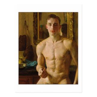 Der Boxer durch Konstantin Somov Postkarten