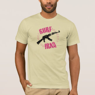 Der Brandungs-Irak Vintager Grunge-Schablone-T - T-Shirt