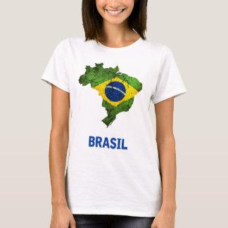 Der Brasilien-Flaggen-T - Shirt (Damen)