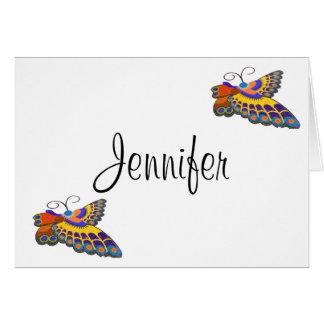 Der Braut Schmetterling danken Ihnen Karte