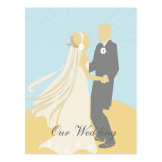 Der Braut-und des Bräutigams Hochzeits-Tanz Postkarte