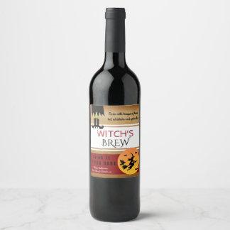 Der Brew-Vintage Art der Hexe Weinetikett