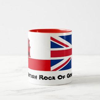 Der britische Felsen des Gibraltar-Tassen-Entwurfs Zweifarbige Tasse