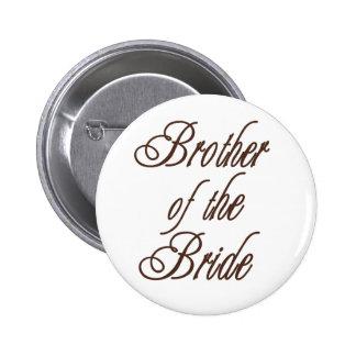 Der Bruder-nobles Braun der Braut Runder Button 5,7 Cm