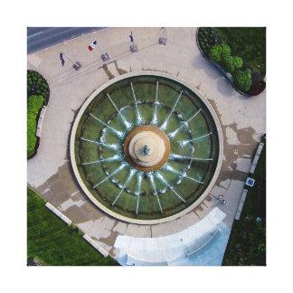 Der Brunnen-Leinwand-Wand-Kunst Kansas- Leinwanddruck