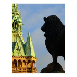 Der Brunswick-Löwe, Braunschweiger Löwe Postkarte